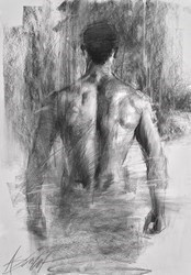 Seeking Truth by Henry Asencio -  sized 17x23 inches. Available from Whitewall Galleries
